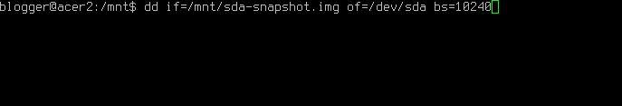 restore disk linux dd
