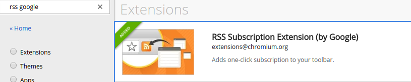 rss google extension official