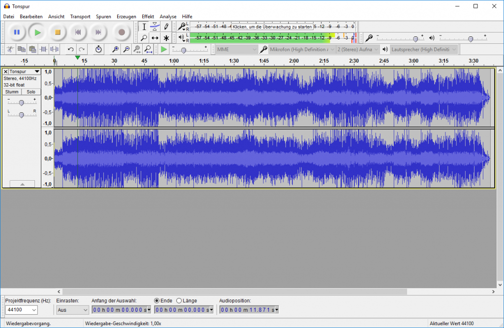 Audio Record Edit Audacity free tool